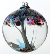 kitras tree of enchantment blown glass ornament 2 5