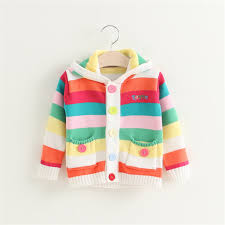 baby sweaters baby sweaters jacket fashion rainbow color knitted sweater
