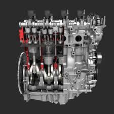4 cylinder engine 4 cylinder engine block cutaway 3d model in parts of auto 3dexport