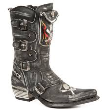 leather biker boots new rock boots black leather cowboy boots biker boots 022 boots