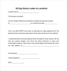 notice to vacate template tenant u0027s notice of intent to vacate