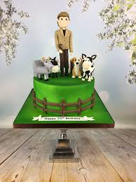 farm cake toppers farmer and his animals 30th birthday cake mel s amazing cakes