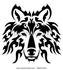 vector tiger tattoo stock vector 154750574 shutterstock