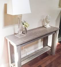 living room appealing solid wood distressed off white sofa table