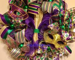 mardi gras deco mesh mardi gras wreath etsy