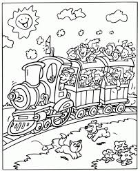 train coloring pages print kids 25073