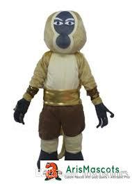 100 real photos kungfu panda monkey mascot costume cartoon
