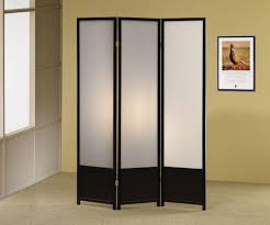 screen room divider black finish 3 panel folding screen room divider