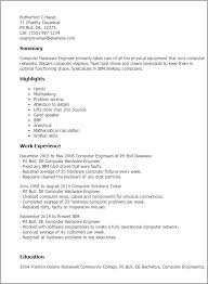 Resume Engineering Template Professional Computer Hardware Engineer Templates To Showcase Your