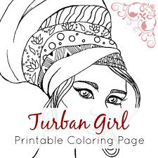african coloring page african with turban