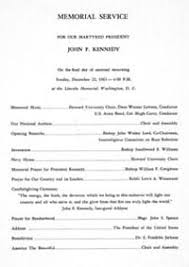 Program For Funeral Service The American Presidency