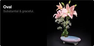 Japanese Flower Arranging Vases Oval Ikebana Vases
