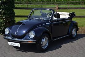 navy blue volkswagen beetle classic park cars volkswagen kever cabriolet