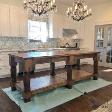 how to build a kitchen island with seating diy kitchen island free plans how to shanty 2 chic