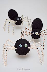 creepy halloween spider craft