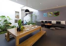 Small Home Indoor Garden Design Ideas With Living And Dining Room - Interior garden design ideas