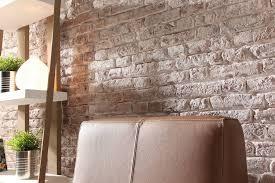 Wohnzimmer Modern Loft Ladrillo Loft Altweiss Als Steinwand Im Wohnzimmer