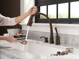 kohler bronze kitchen faucets rubbed bronze deck mount delta kitchen faucet two handle side