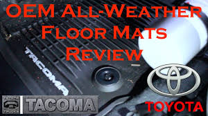 toyota tacoma floor mat 2016 toyota tacoma oem all weather floor mat review tim s