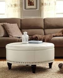 white round tufted ottoman white modern fabric round tufted ottoman coffee table designs to