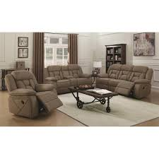 Contemporary Reclining Sofa With Topstitch by Coaster Furniture Sofas Houston 602264 Reclining Sofa Reclining