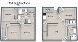 4 bed floor plans 4 bed 2 bath apartment in gallatin tn villages of gallatin