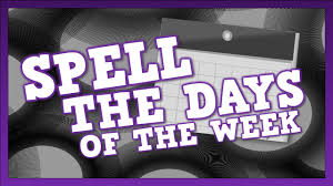 spell the days of the week song for kids about spelling the days