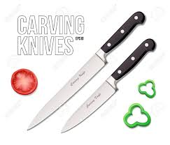two chef s kitchen carving knives eps10 royalty free cliparts