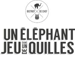 logo chef de cuisine chef de cuisine à etienne un éléphant dans un jeu de quilles