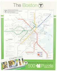 Boston College Map by Amazon Com New York Puzzle Company Boston Transit Boston T