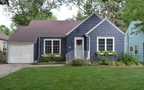 Blue House With Red Door 11 Quick Tricks To Whip Your Home Exterior Into Shape Hometalk