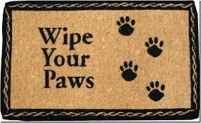 Wipe Your Paws Coir Doormat The Arizeq Cool Welcome Doormats