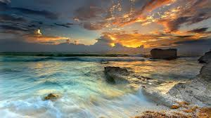 time relaxing blue beautiful sky beach mountains sea ocean