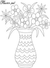 Vase Of Flowers Drawing Drawing Flower Pots Drawing Sketch Library Flowers Pinterest