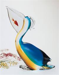 murano italian glass pelican statue the cottage shop
