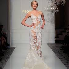 wedding gowns nyc sheer wedding dresses hit the runway at new york bridal fashion week