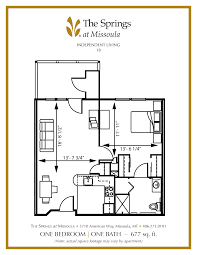 senior apartment floor plans the springs at missoula