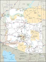 Winslow Arizona Map by Meteor Crater Az