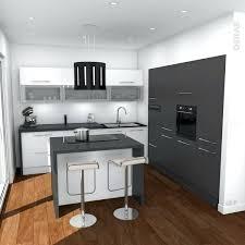 cuisine ilot ilots central de cuisine cuisine moderne grise avec arlot