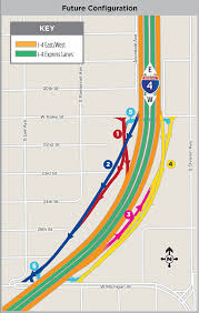 Florida Turnpike Map A Look Ahead At The Improved Michigan St And Kaley Ave