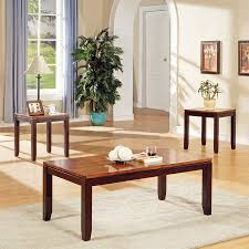 accent table and chairs set shop steve silver company abaco 3 piece two tone cordovan cherry