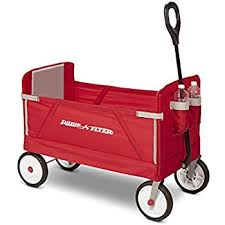 wagon baby all terrain steel and wood pull cart wagon for kids w