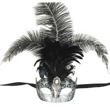 masquerade masks with feathers venetian mask in london for black and silver princess feathered