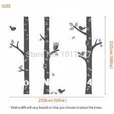 Baby Wall Decals For Nursery by Aliexpress Com Buy Free Shipping Oversized Birch Tree Wall