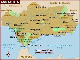 map of spain map of andalucia