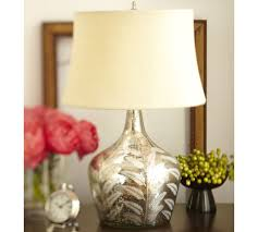 Mercury Glass Table Lamp Etched Fern Mercury Glass Table Lamp Pottery Barn