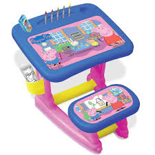 activity desk for peppa pig activity desk with seat accessories for colouring