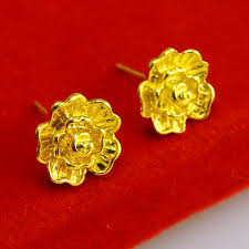 gold earrings for women images do not fade gold earrings ear 24k gold single tide