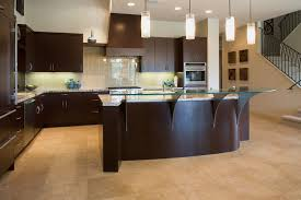 raised kitchen cabinets raised glass bar tops stainless steel brackets to support the
