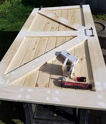 Sliding Barn Door Construction Plans How To Build A Sliding Barn Door For Less